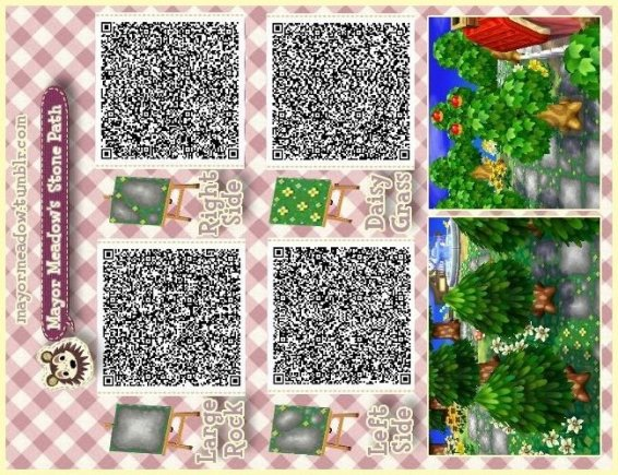Animal Stepping Stone Animal Crossing New Leaf Qr Codes Paths