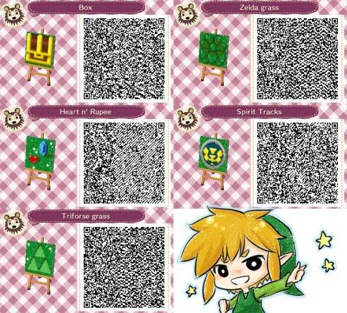 Legend of Zelda path QR codes? on