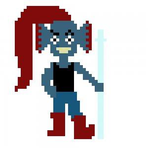 pixel art undyne